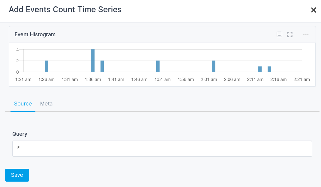 Sematext Cloud Events Histogram Component