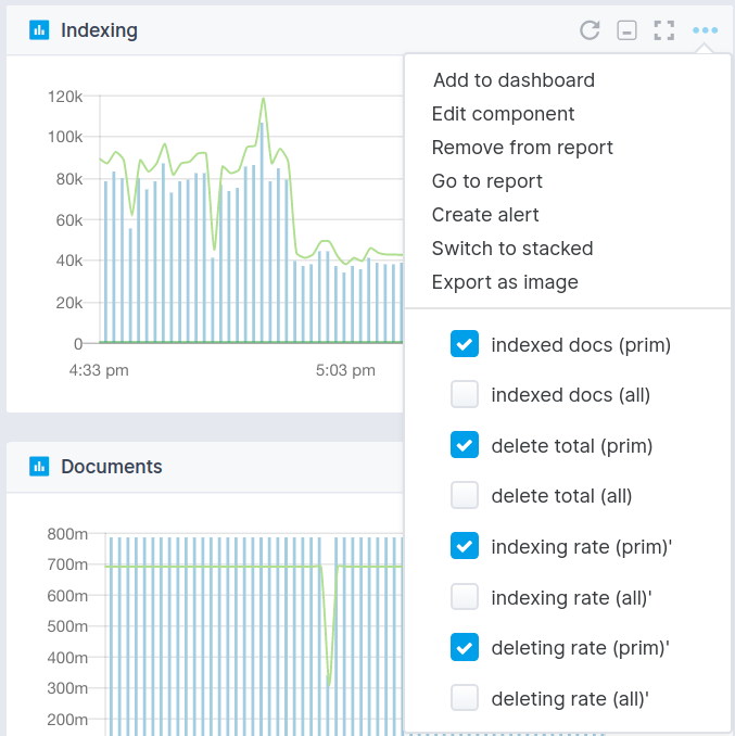 Sematext Cloud Monitoring Guide - Component Settings