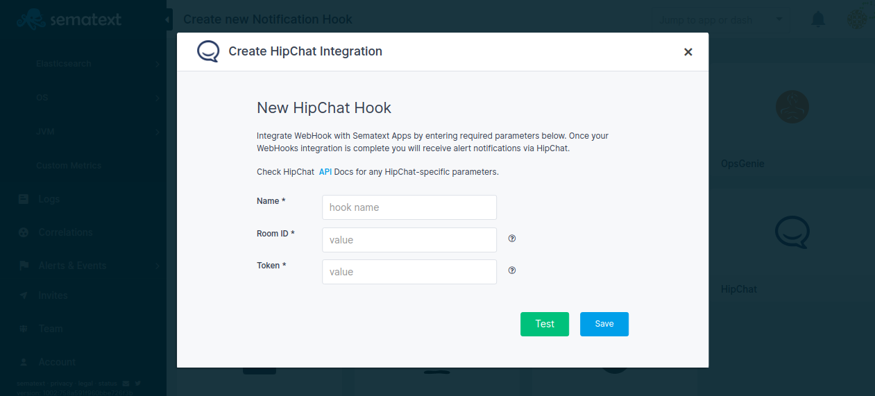 Create Hipchat Integration