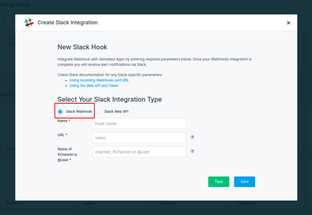 Slack Incoming Webhooks Integration