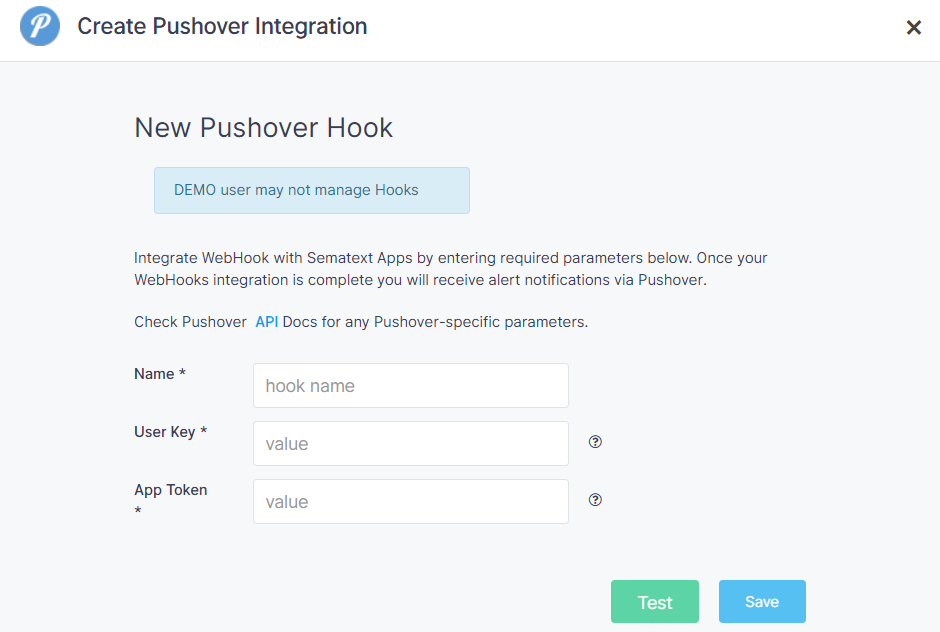 Pushover Alerts Integration