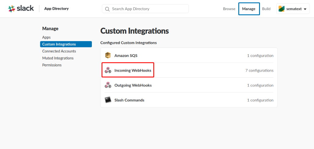 Slack Webhook Custom Integration