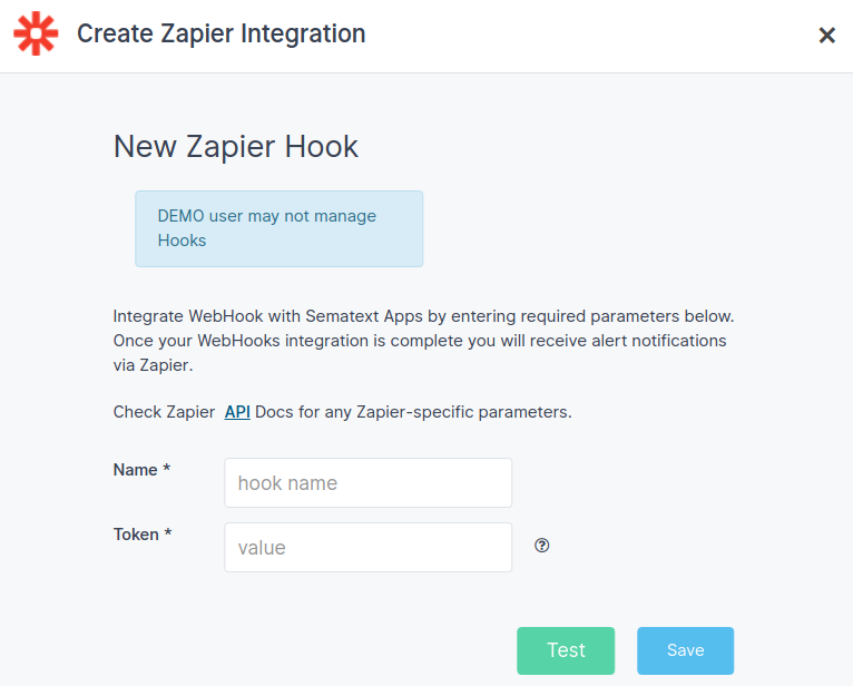 Zapier Alerts Integration