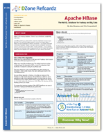The Essential Apache HBase Cheat Sheet