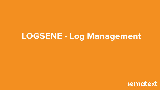 Logsene- Log Management