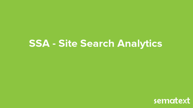 SSA Site Search Analytics