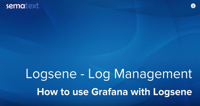 How to use Grafana with Logsene