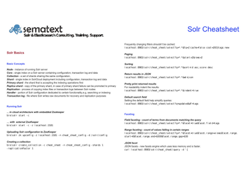 Solr Cheat Sheet