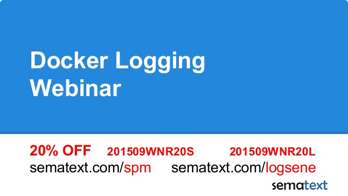 Docker Logging Webinar