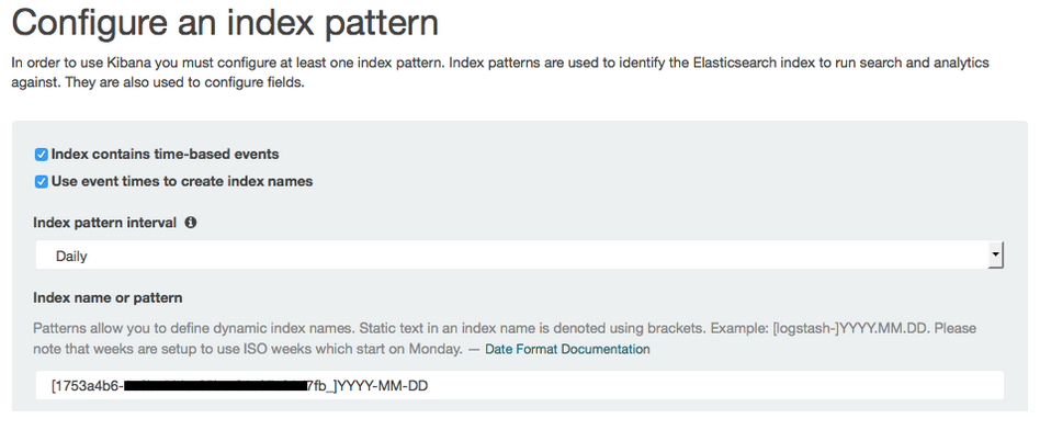 Enter Kibana Index-Pattern