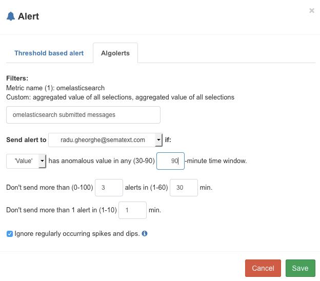 alert on rsyslog's Elasticsearch output