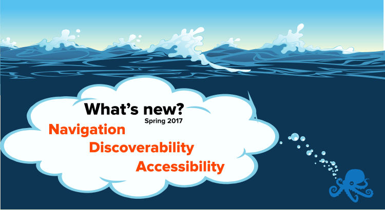 Sematext Navigation discoverability accessibility