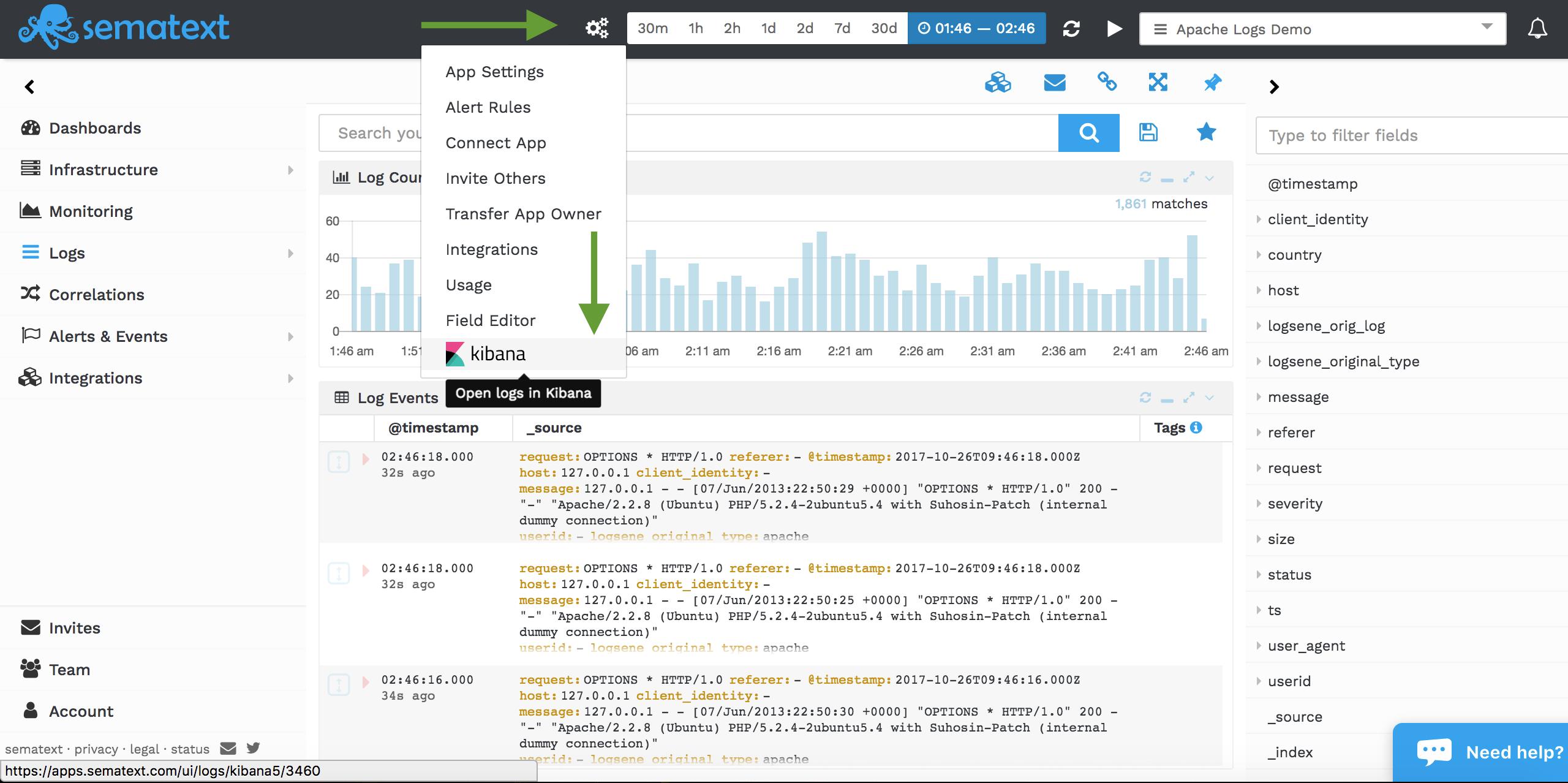 Elasticsearch 5.x and kibana 5.x sematext