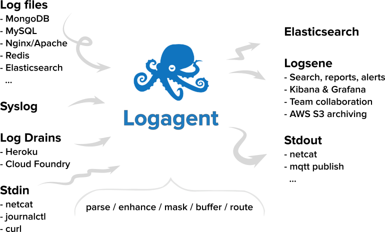 Logagent: The Swiss Army Knife for Log Processing?