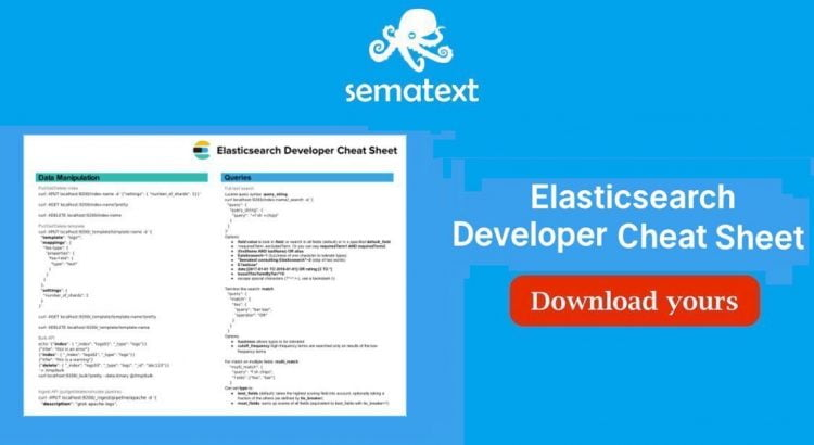 Elasticsearch developer cheatsheet sematext