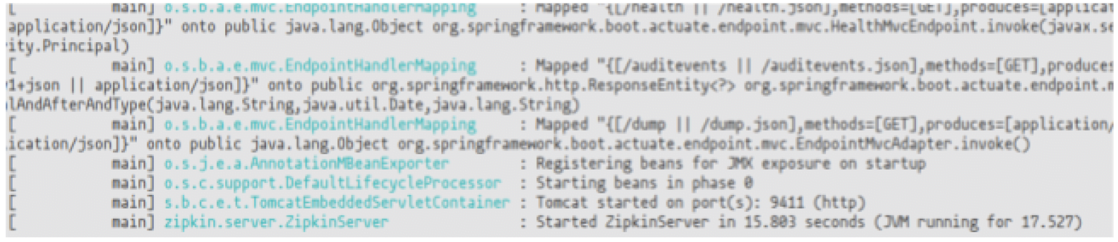 Zipkin server started successfully opentracing sematext