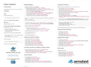 docker command cheatsheet sematext