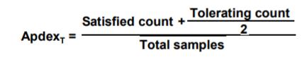 apdex score calculation