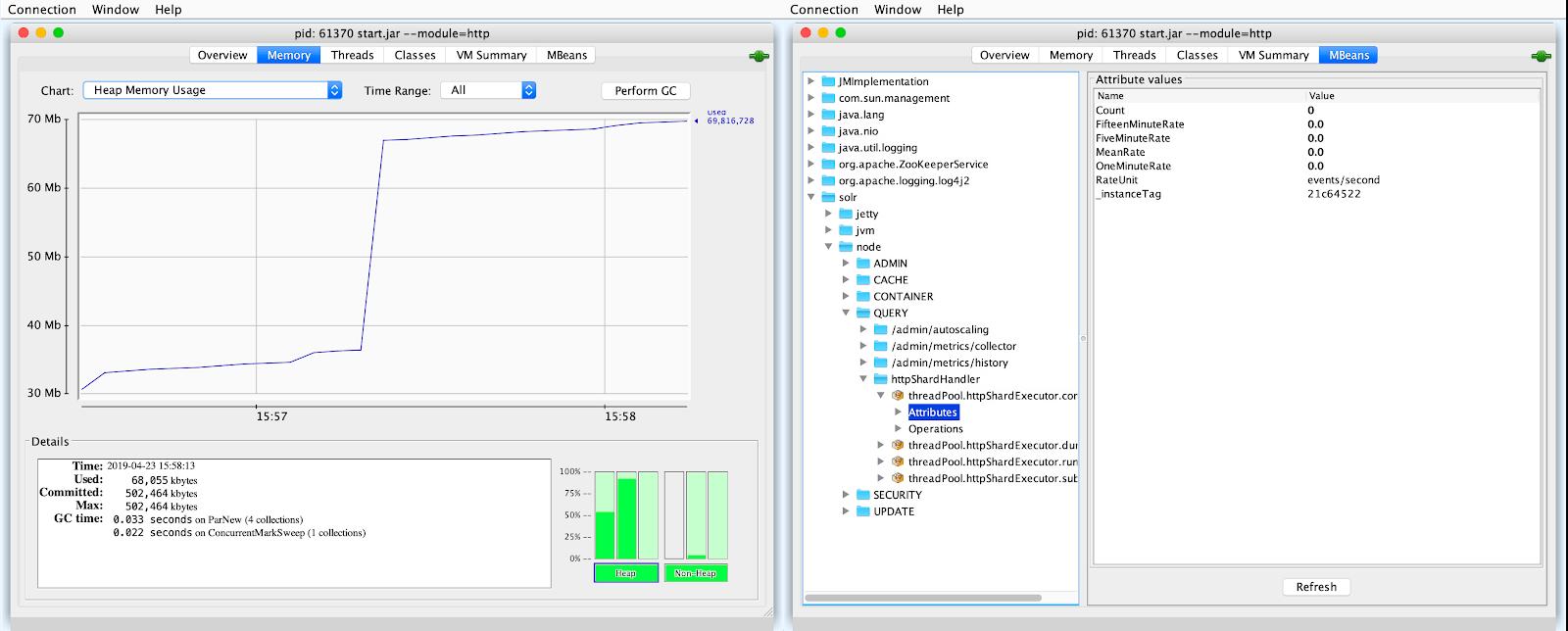 Monitoring Solr JMX metrics