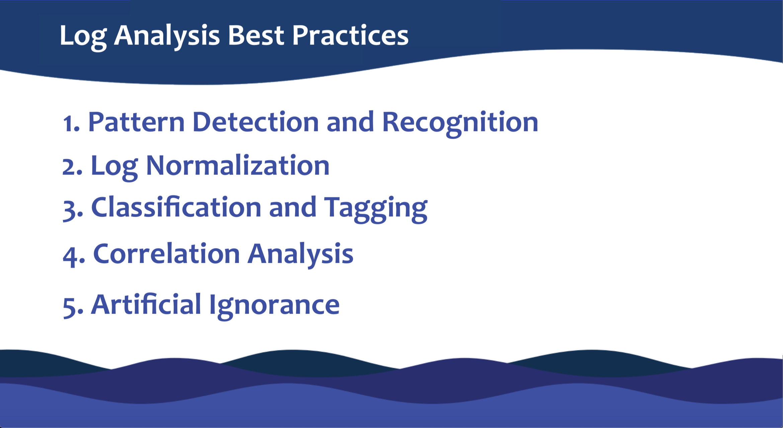 Log Analysis best practices