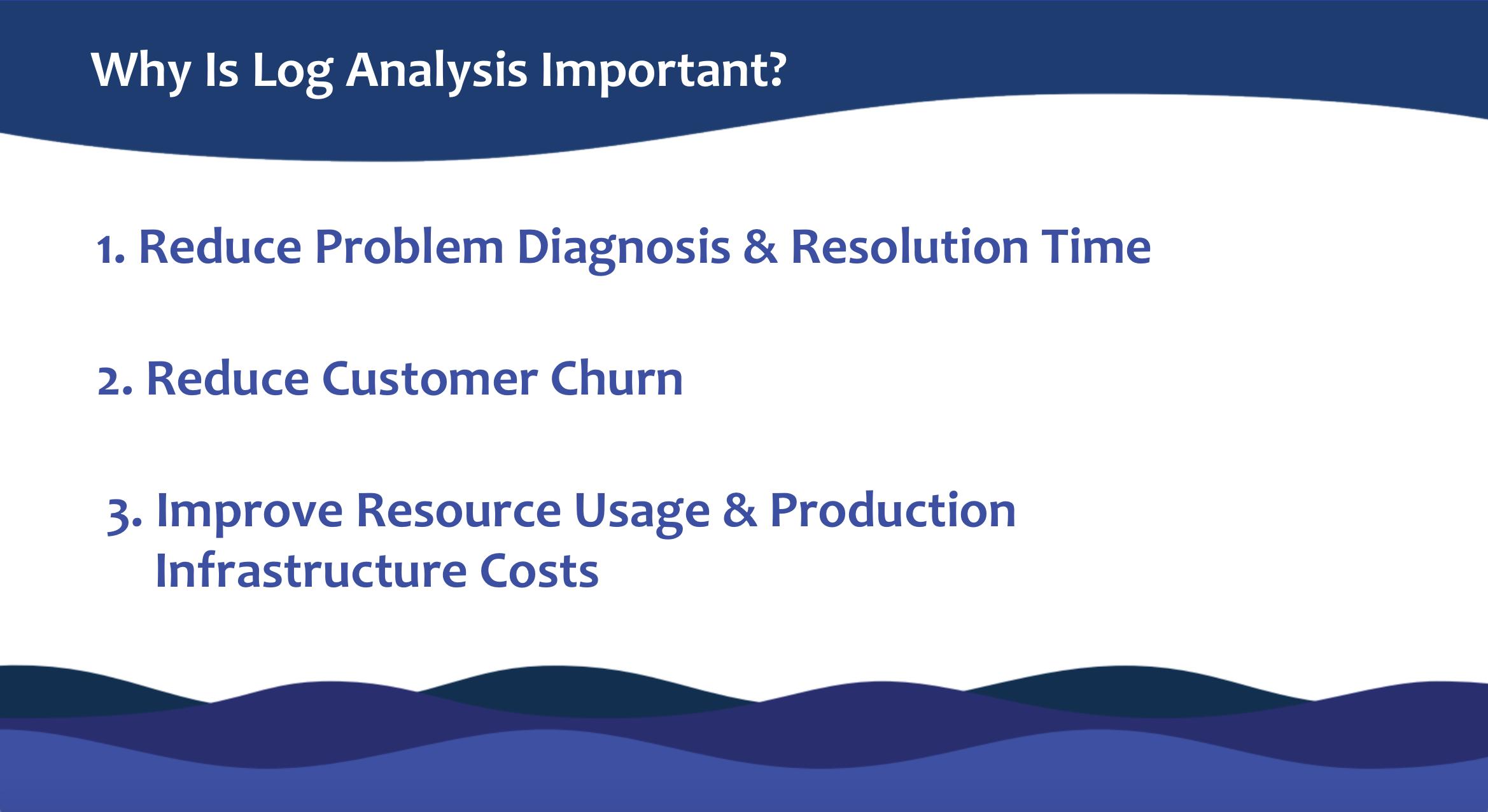 Log analysis importance