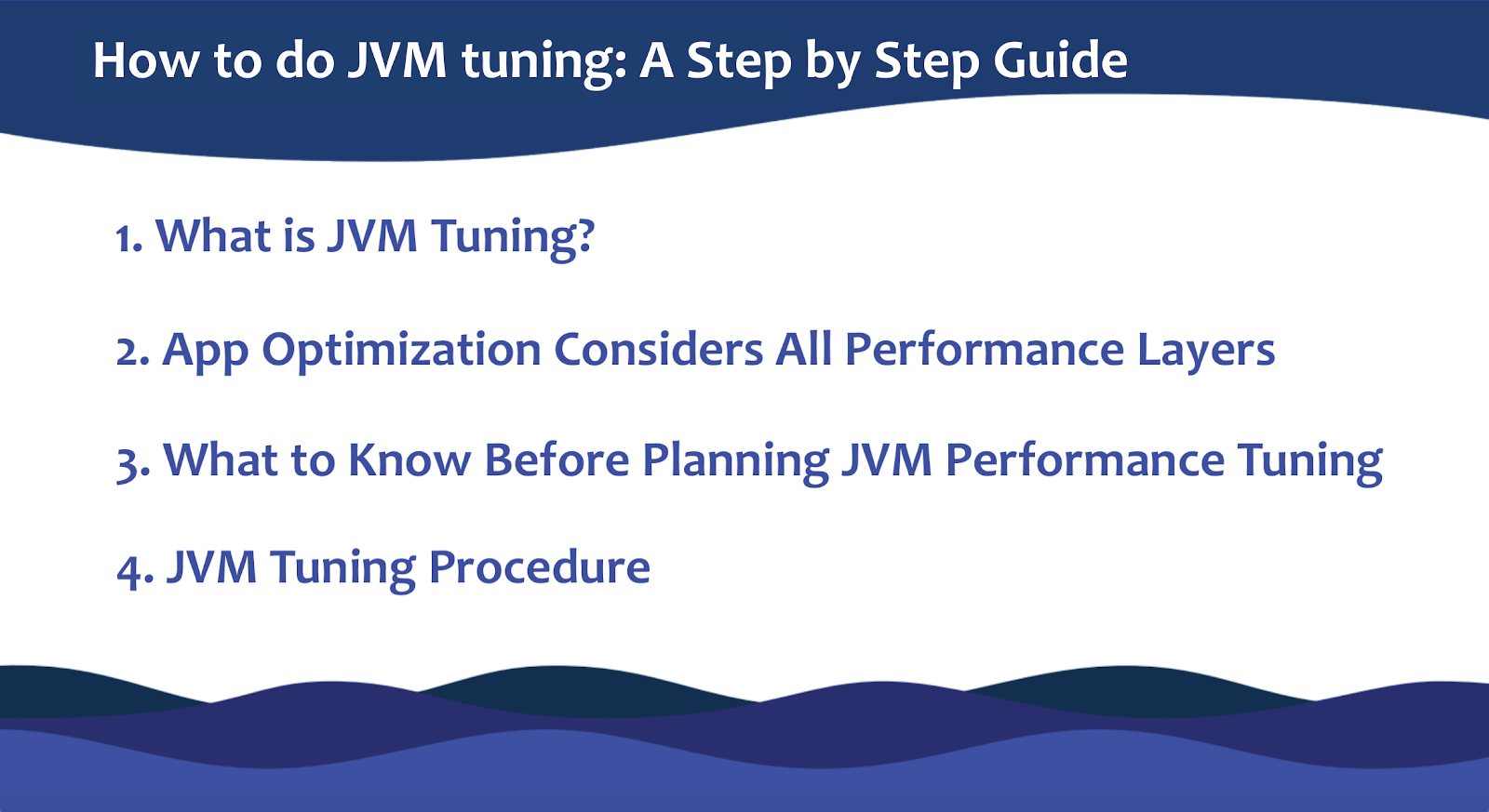 JVM performance tuning step by step