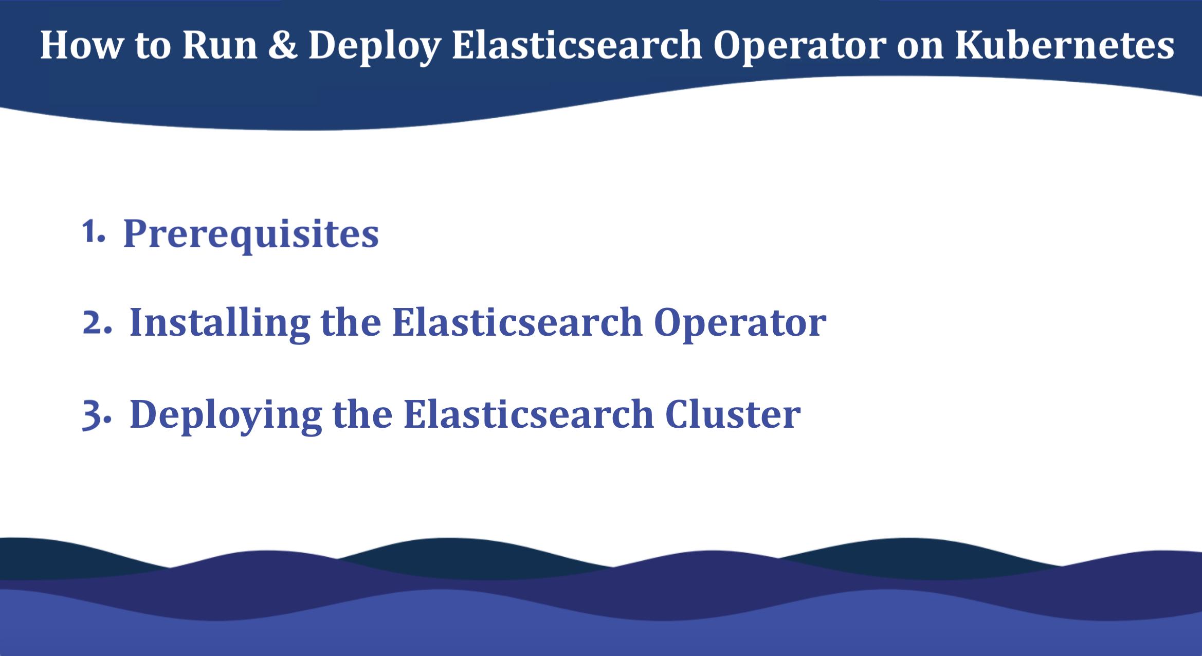 Run & deploy elasticsearch operator on klubernetes