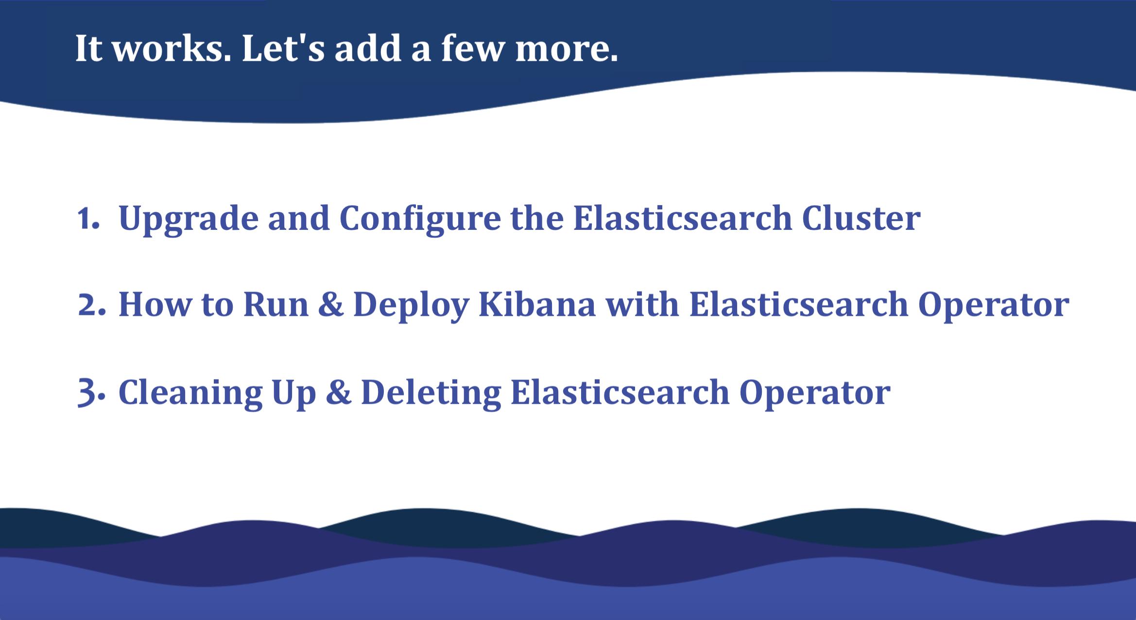 elasticsearch kubernetes operator
