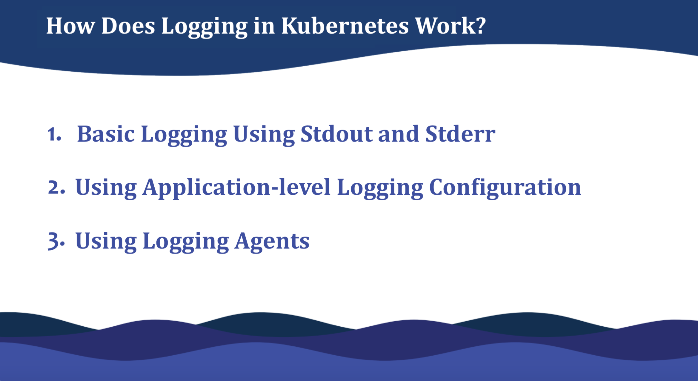 how logging in kubernetes work