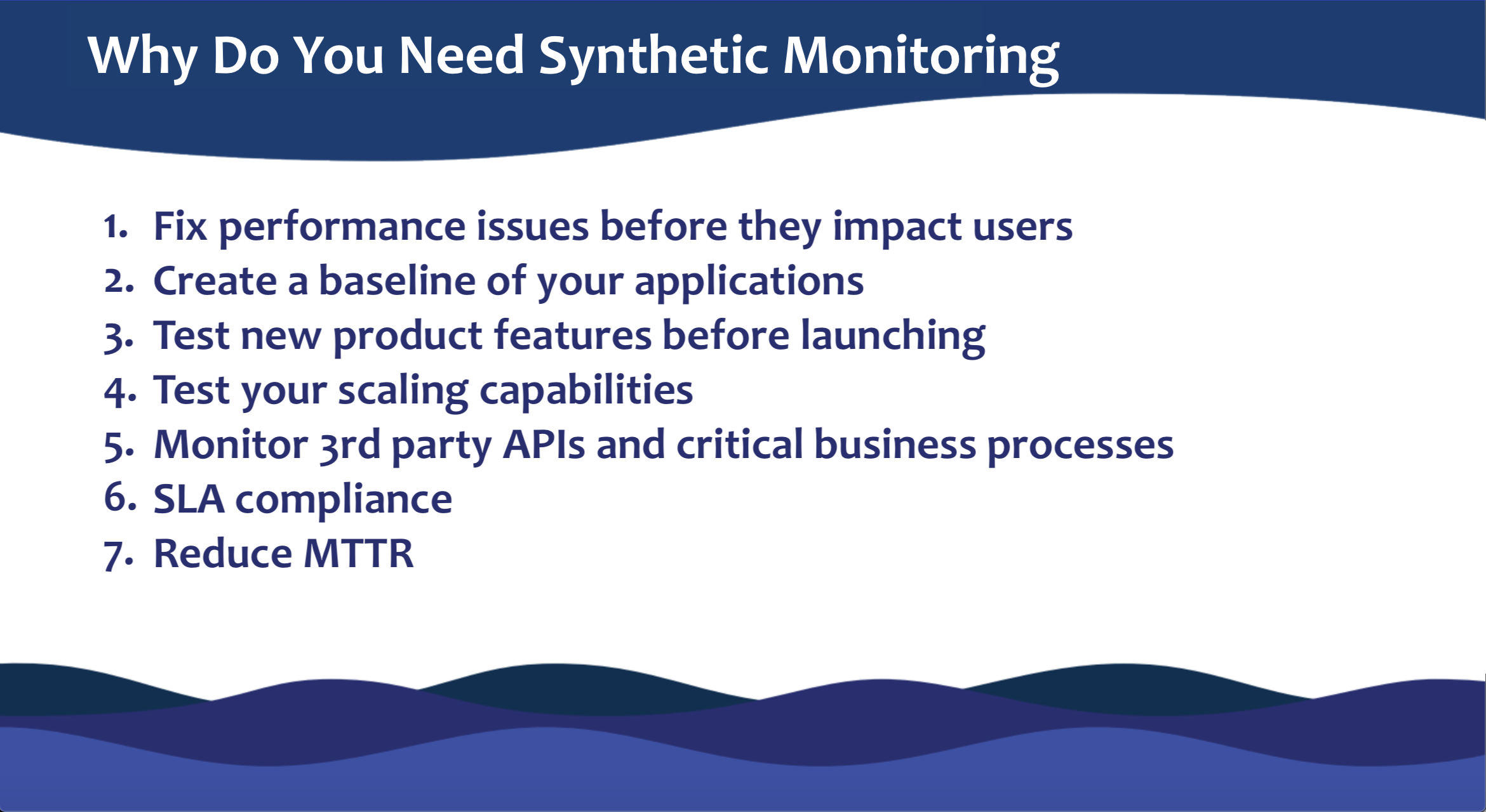 synthetic testing use cases