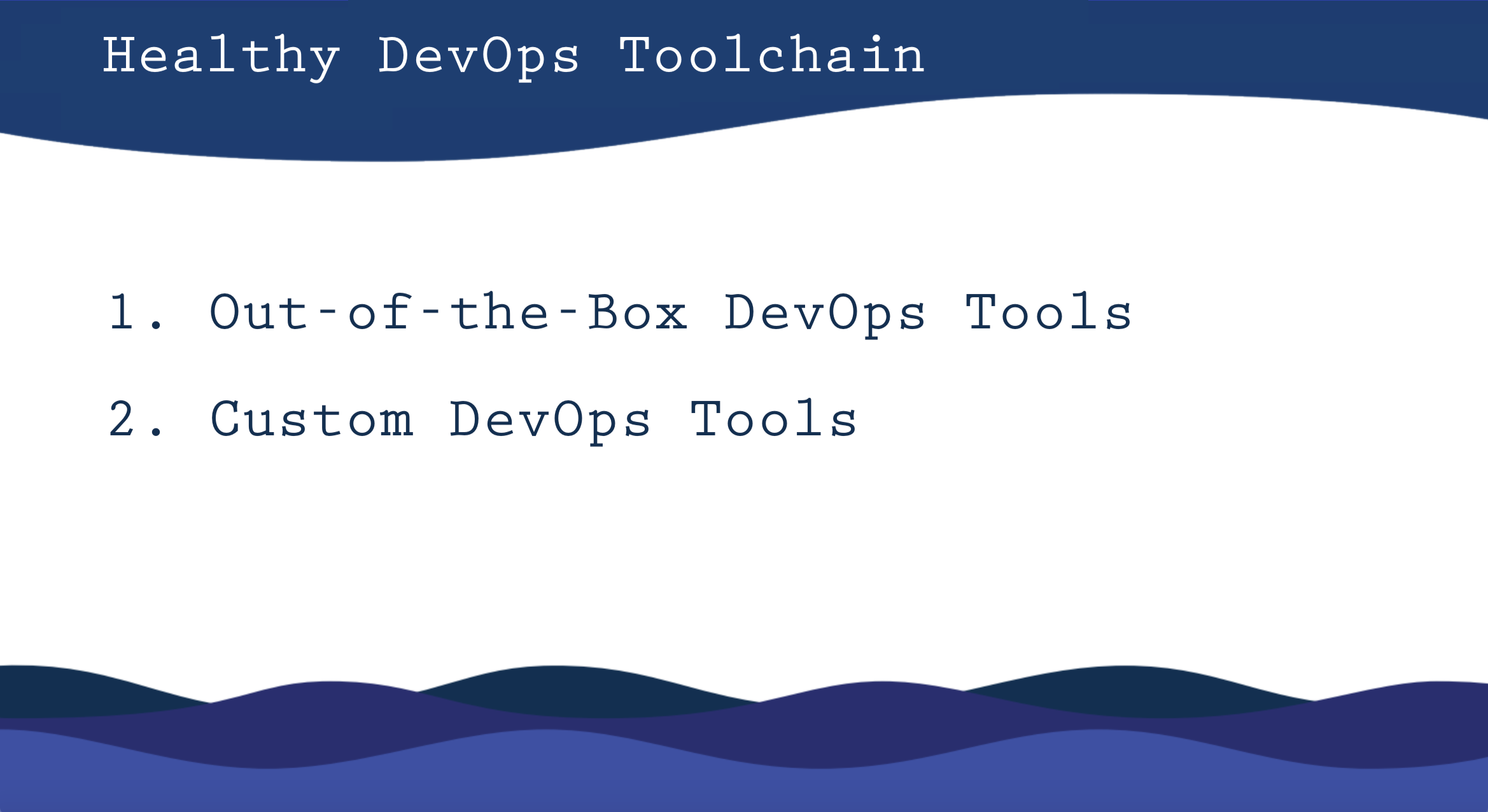 devops toolchain