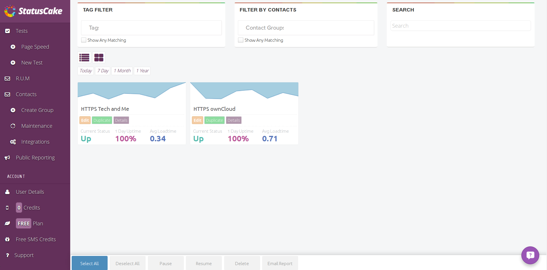 best tools to monitor website uptime