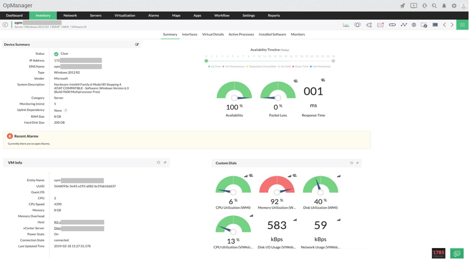 bst server monitor service