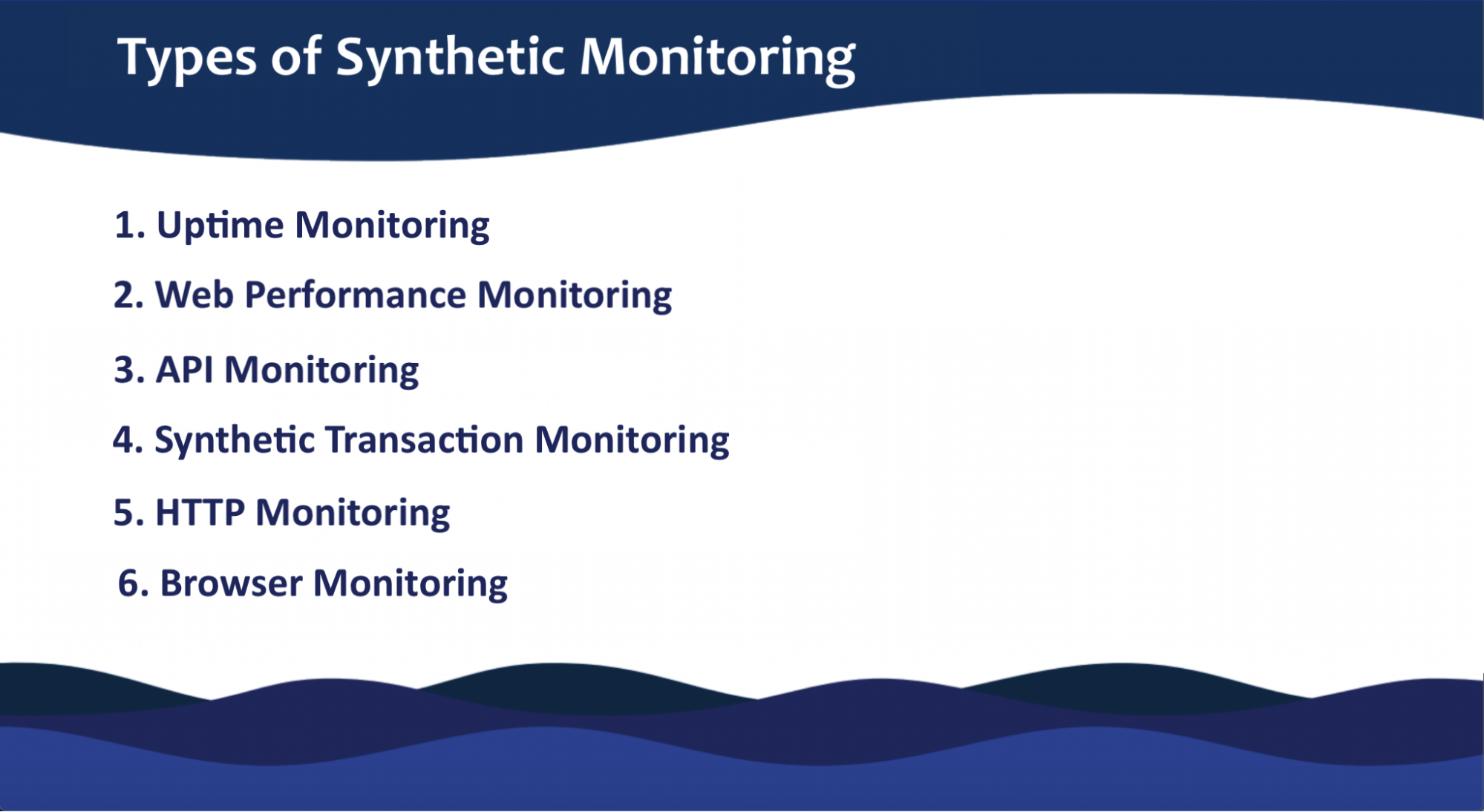 what does synthetic monitoring include