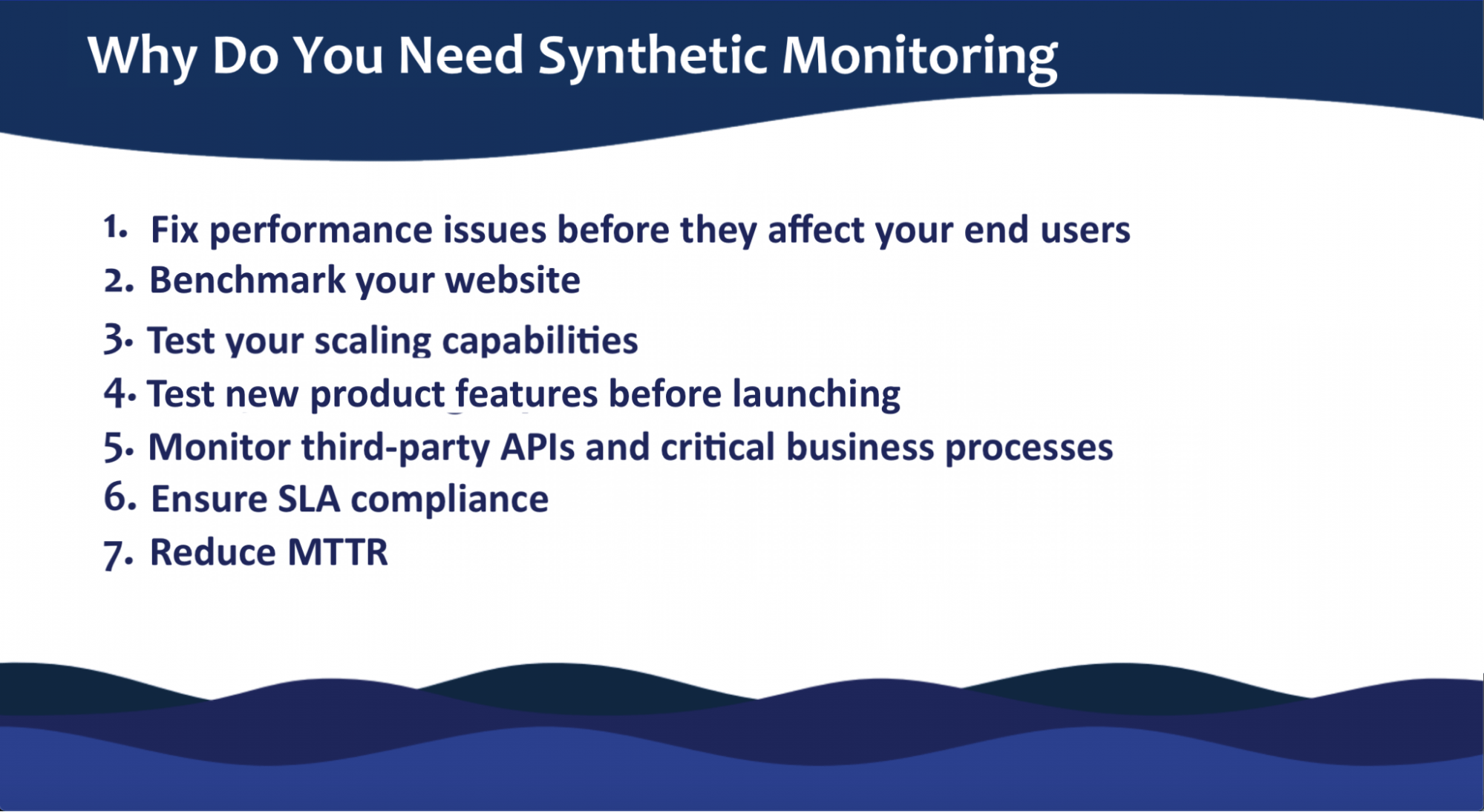 why use synthetic monitoring